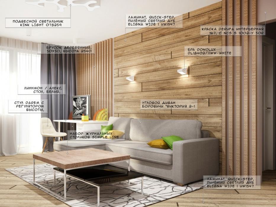Подбор материалов и мебели для дизайна интерьера квартиры