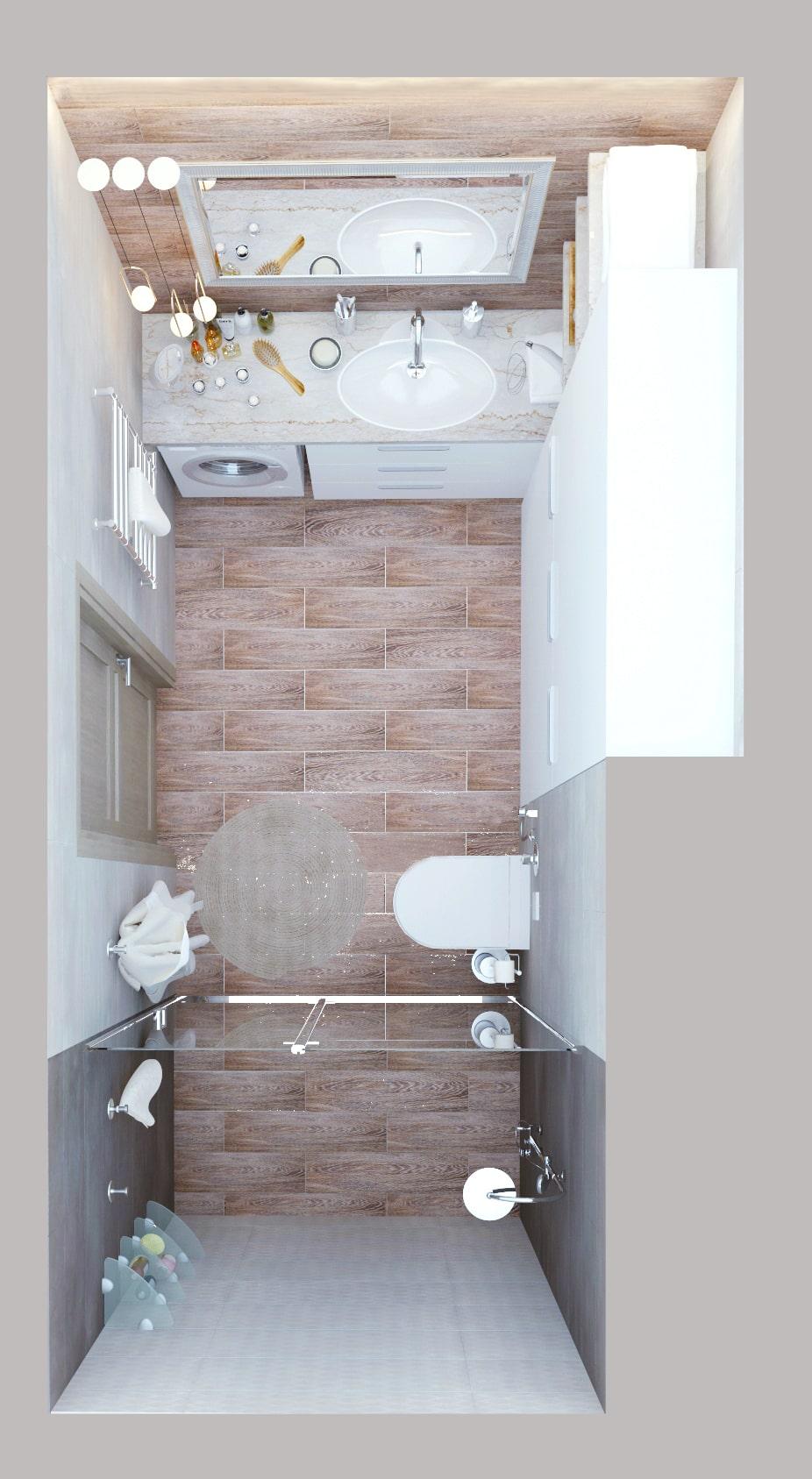 Визуализация ванной комнаты в белых тонах 8 кв.м, белый шкаф, зеркало, раковина, тумба, душевая кабина