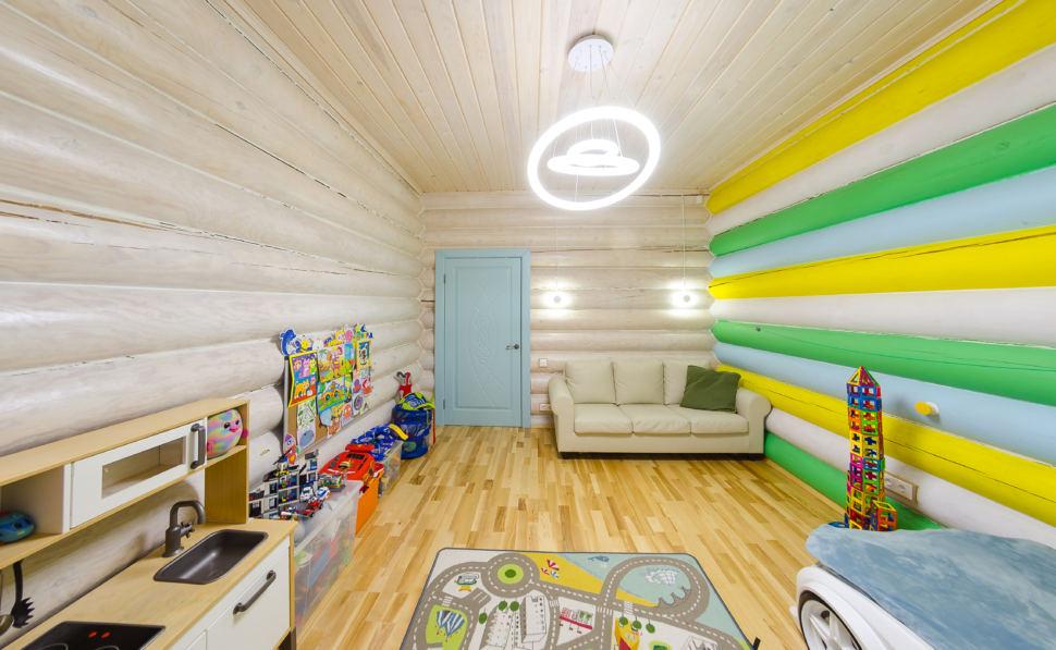 интерьер детской в стиле прованс, детский столик, бирюзовая дверь, кровать, диван, акцент, игрушки