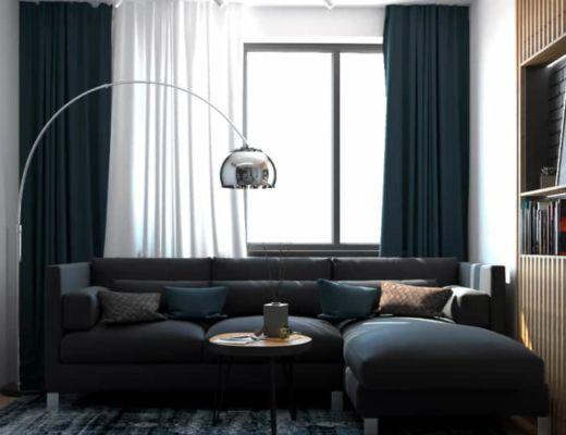 Фото 10 - Красивое размещение дивана в общем интерьере комнаты [4]