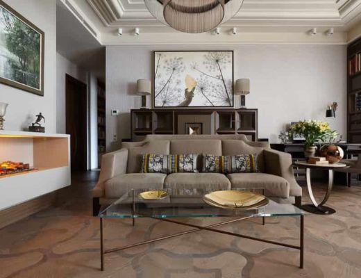Фото 20 - Классику в данном интерьере можно увидеть как в декоре комнаты, так и в текстиле [7]