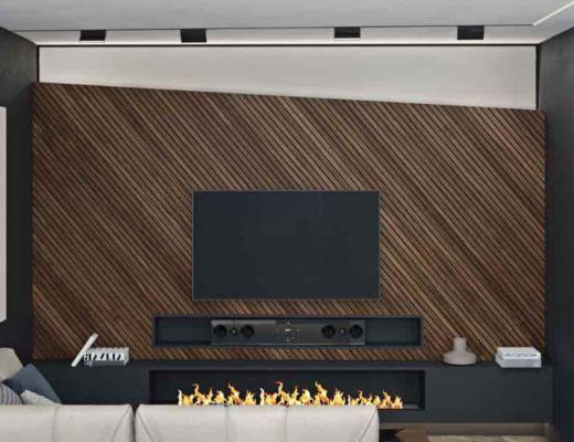 Фото 93 - Лучшее решение реализации акцентной стены за телевизором [2]