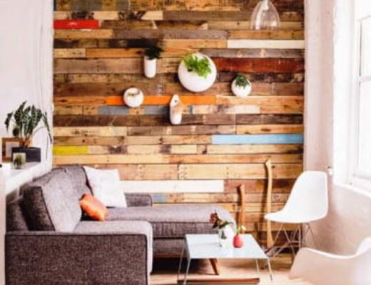 Фото 40 - Яркая акцентная стена позволяет экспериментировать с тоном остальной мебели [5]