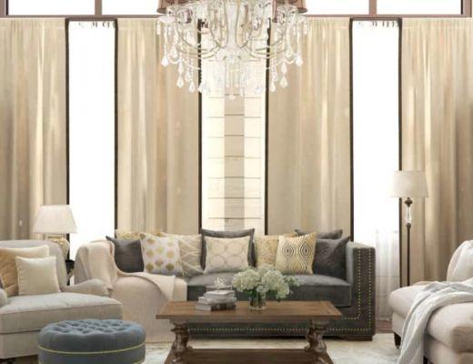 Фото 12 - Красивая классическая люстра подчеркивает общий интерьер комнаты [4]