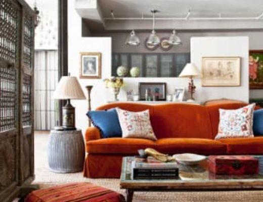 Фото 79  - Красивые красные акценты интерьера позволяют гармонично сочетать различные орнаменты декора [34]