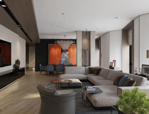 Фото 90 - Красивая гостиная в стиле модерн, с применением акцентного элемента в виде дизайнерской картины [6]