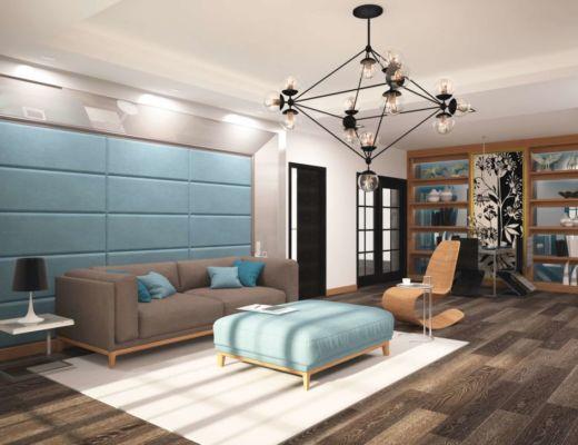 Фото 7 - Интересная реализация люстры в гостиной, превносящая уникальный стиль в интерьер
