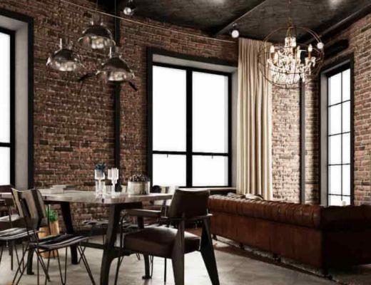 Фото 33 - Красивая гостиная с кирпичными стенами [4]