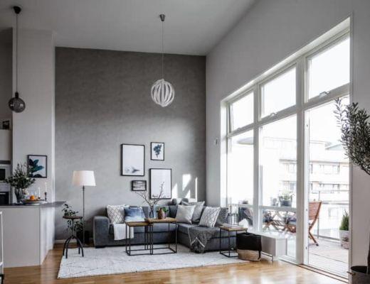 Фото 22 - Красивая гостиная в серых тонах с белыми акцентами [8]