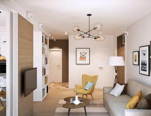 Фото 4 -  Красивая и уютная гостиная в бежево-желтых тонах [2]
