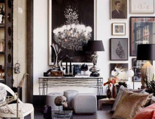 Фото 74  - Стильная дизайнерская картина функционально вписывается в интерьер, не перетягивая особого внимания от общего интерьера комнаты, но также подчеркивая выбранный стиль [31]