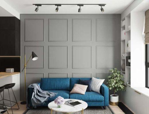 Фото 49 - Интересное решение главной стены, за диваном, может создать уникальный стиль комнаты [2]