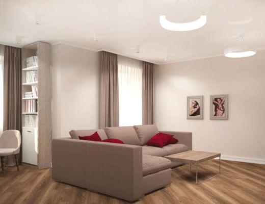 Фото 46 - Красивый бежевый диван может не только заполнить пространство комнаты, но и быть акцентом